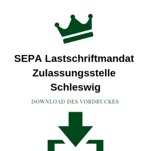 SEPA Lastschriftmandat Zulassungsstelle Schleswig